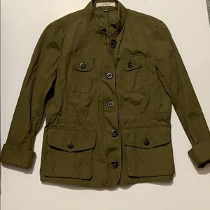 🌹Loft Army Green Utility Jacket